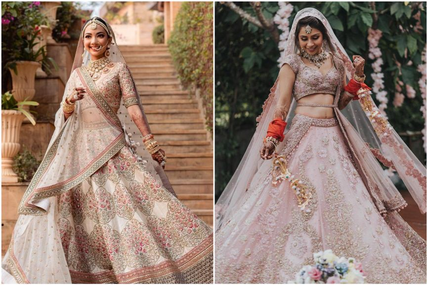 wedding lehenga   bridal lehenga   pastel lehenga   bridal trends   2021 weddings