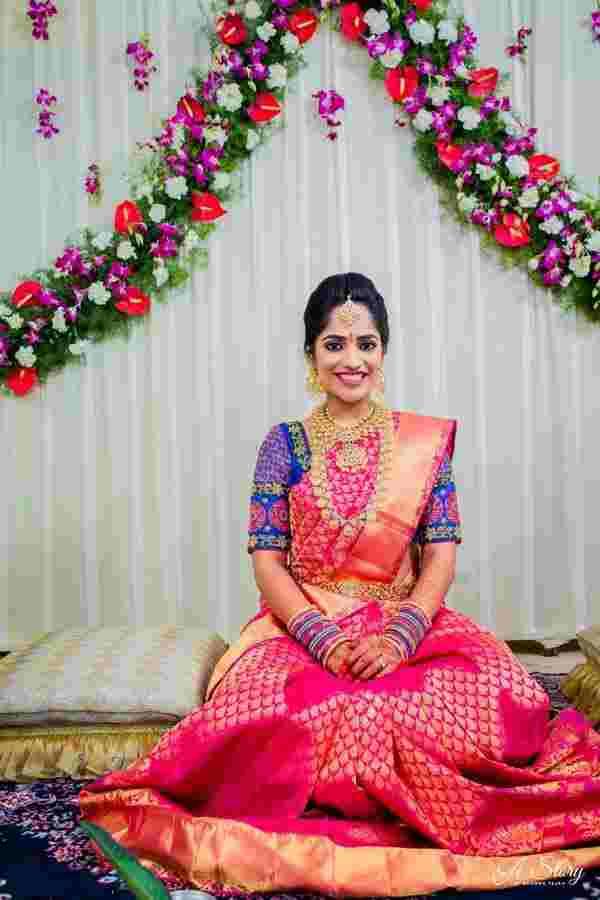 pink saree | wedding saree | kanjivaram sarees