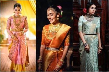 kanjeevaram sarees   south Indian brides   kanjivaram sarees