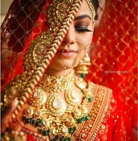 Indian bridal veil styles for Brides