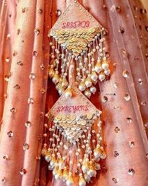 personalized latkans for your designer bridal lehenga