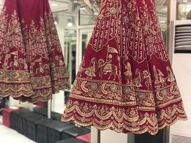 extra borders for designer bridal lehenga