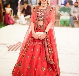 Cape style dupatta to make your bridal lehenga look designer