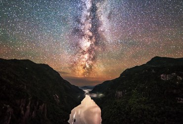 Milky way over Northeast United States