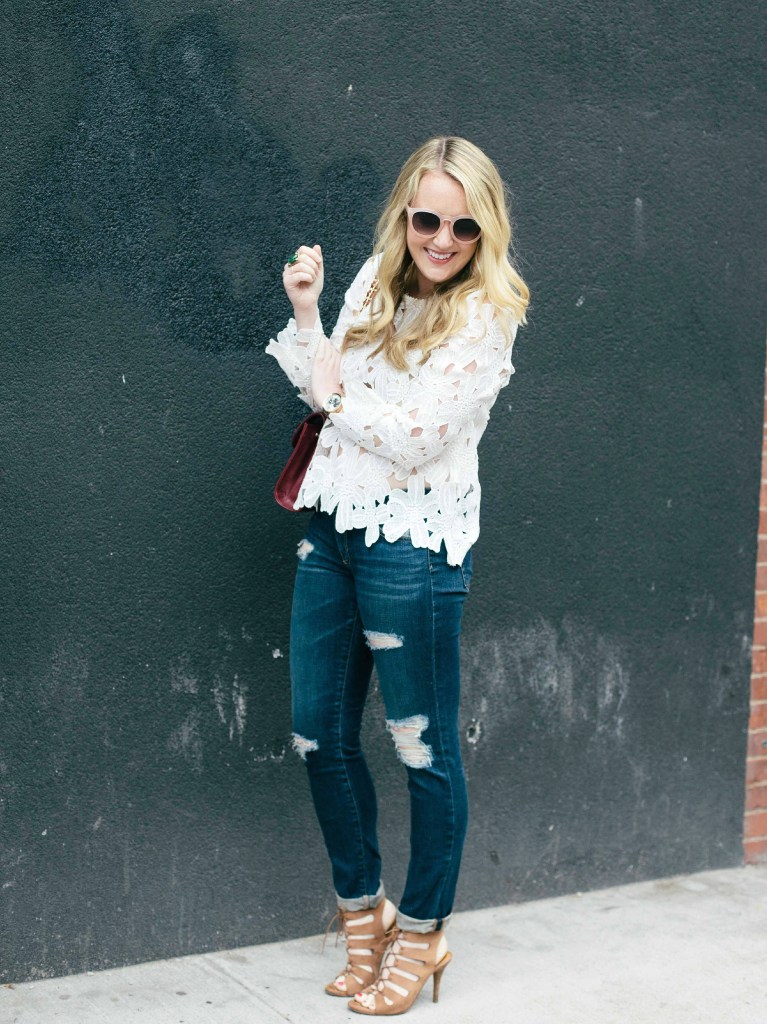 wit & whimsy I lace sleeves