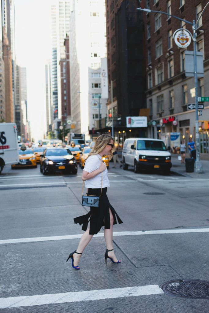 cropped sweater I joie heels I tibi skirt I wit & whimsy
