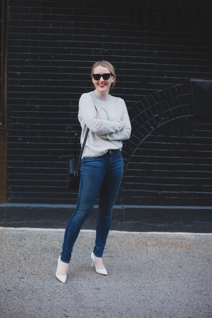 Everlane Sweater I rag & bone jeans
