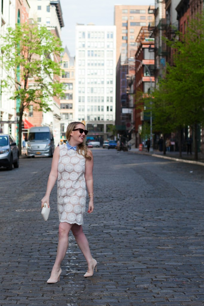 Collared Lace Tunic Dress I wit & whimsy