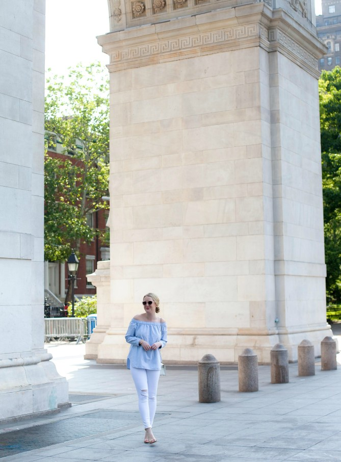 Chambray and Distressed Denim I Washington Square Park I wit & whimsy