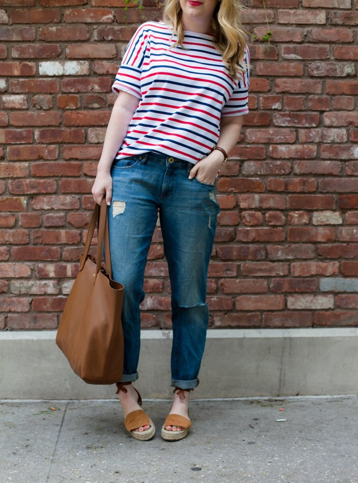 Stripe Tee Styled with Boyfriend Jeans