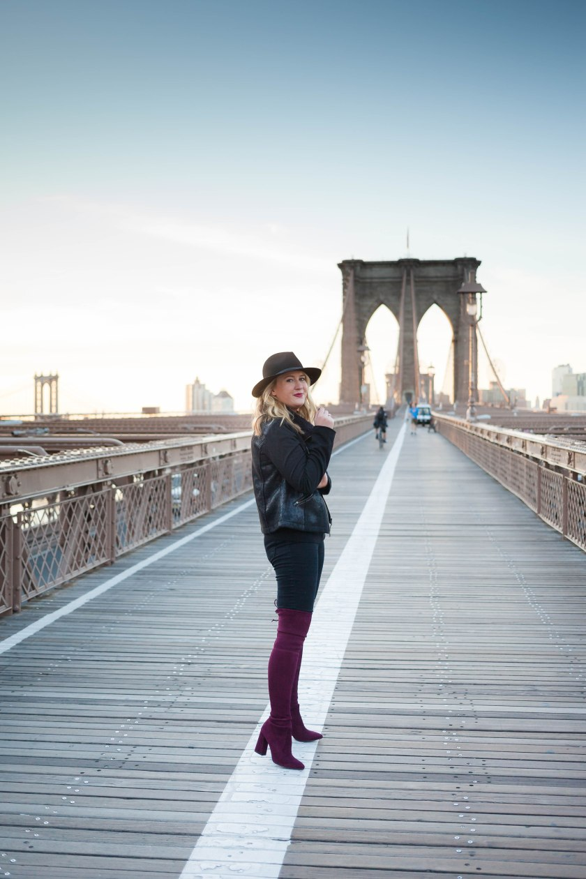Meghan Donovan Atop the Brooklyn Bridge