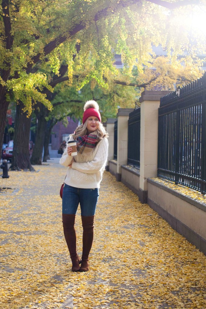 How to Style a Pom Pom Hat I wit & whimsy