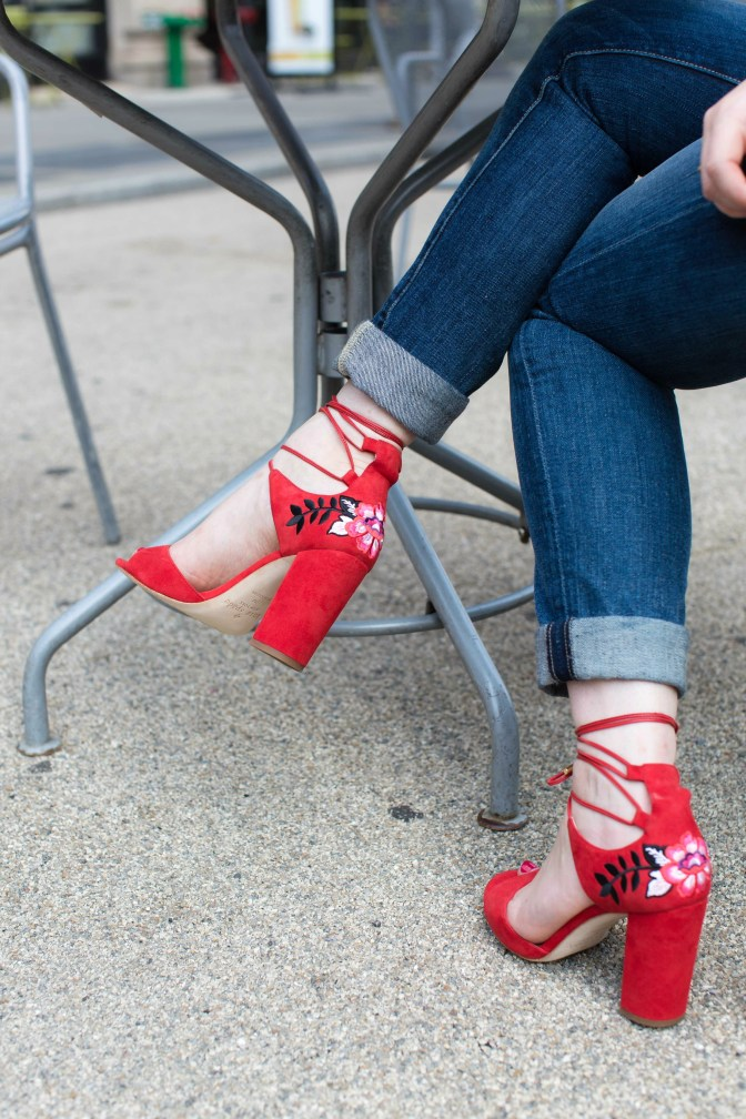 Kate Spade Embroidered Heels
