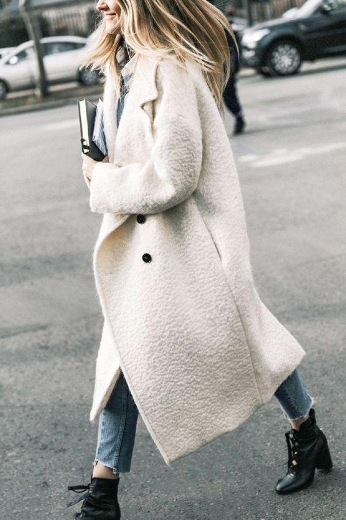 Ivory Oversized Coat