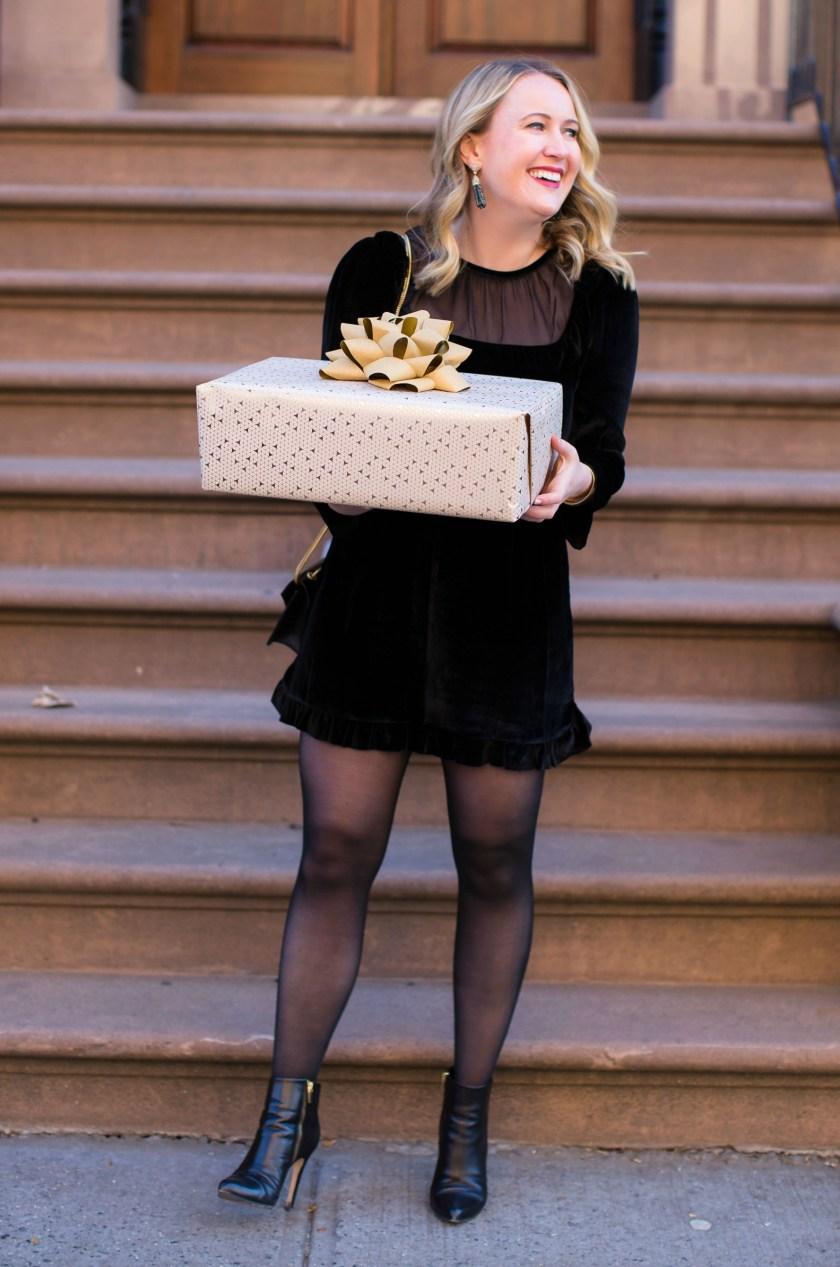 A Holiday Ready Velvet Romper I Meghan Donovan of wit & whimsy