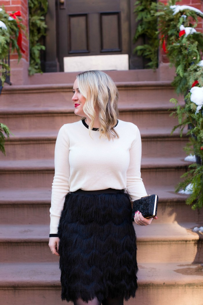 Everlane Colorblock Cashmere on Meghan Donovan of wit & whimsy