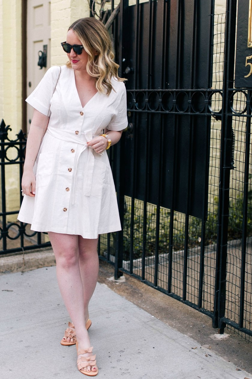 Little White Linen Dress I wit & whimsy