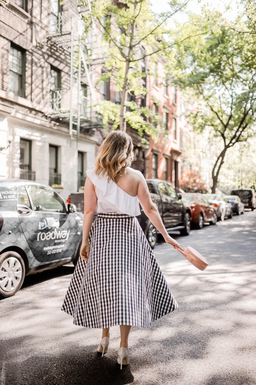 Meghan Donovan in a Kate Spade Gingham Skirt I wit & whimsy