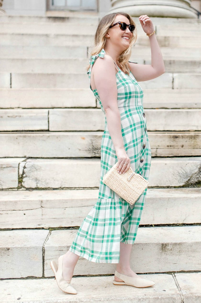 Green Check Dress for Summer I wit & whimsy