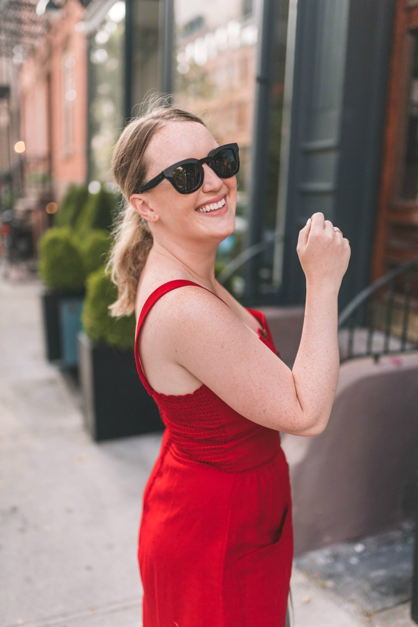 Linen Midi Dress on Meghan Donovan of wit & whimsy