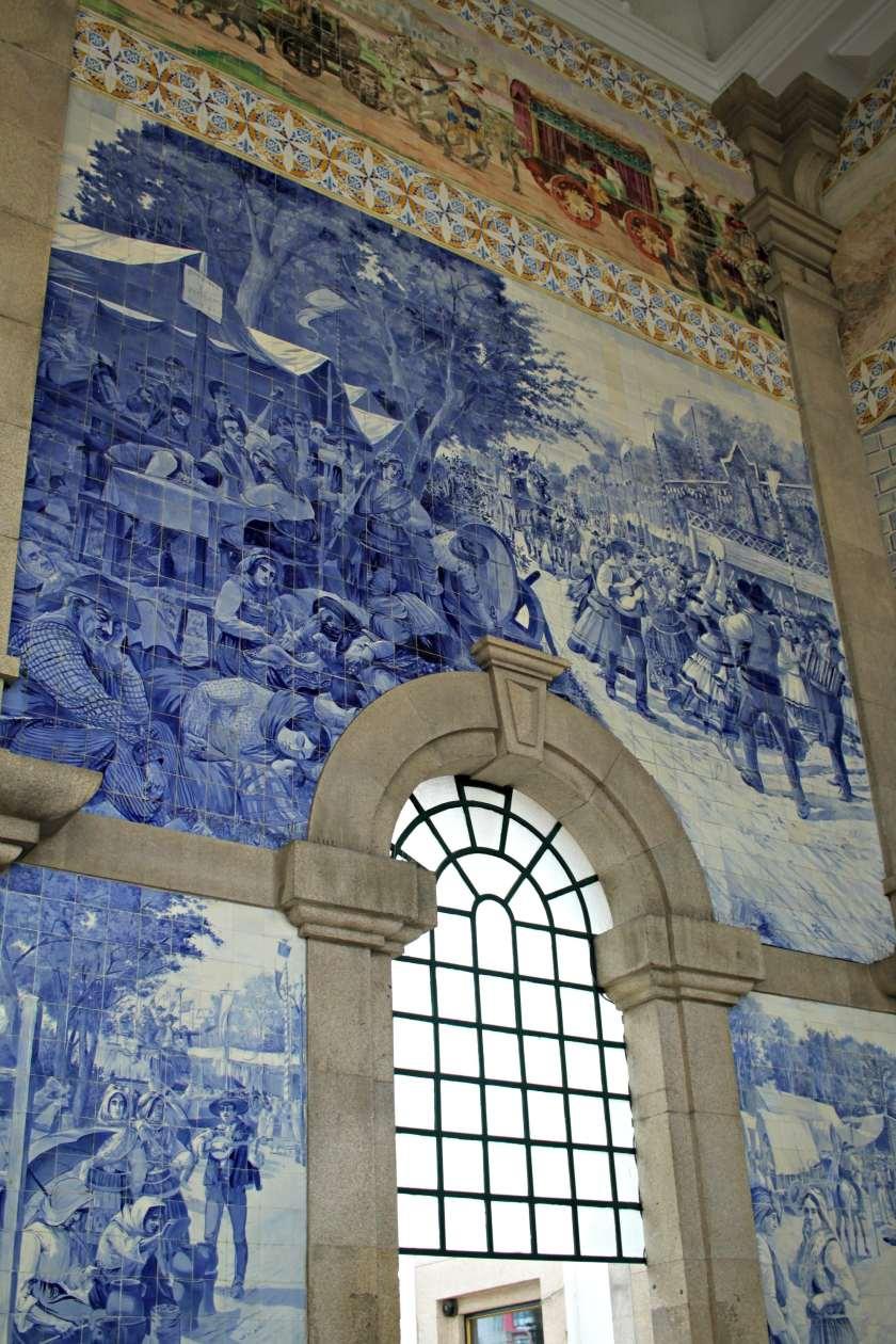 Porto's famed train station