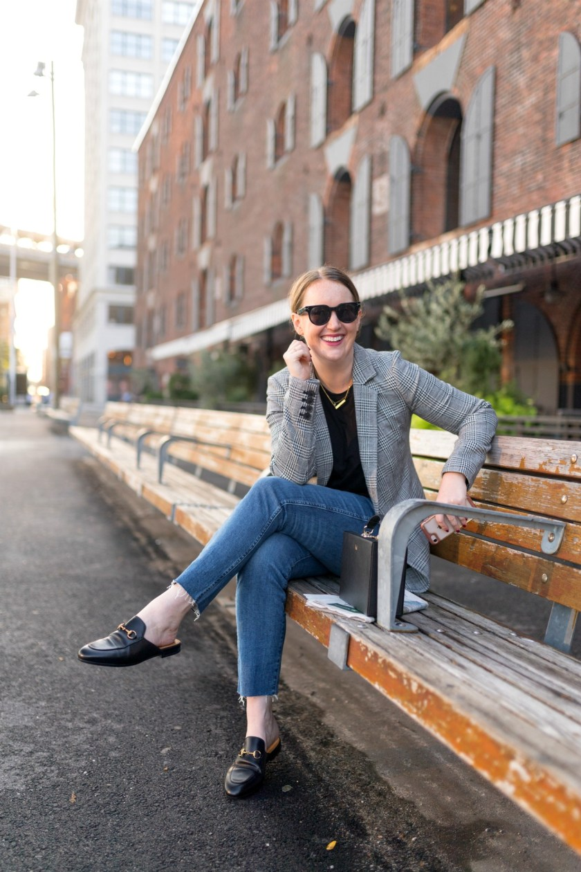 Plaid Blazer + Gucci Loafers I The Best Shoes for Fall & Winter