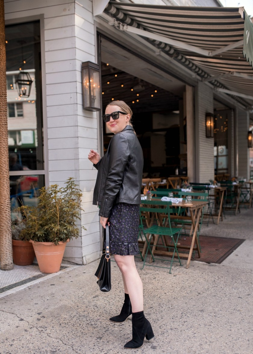 Leather Jacket + Dress I wit & whimsy