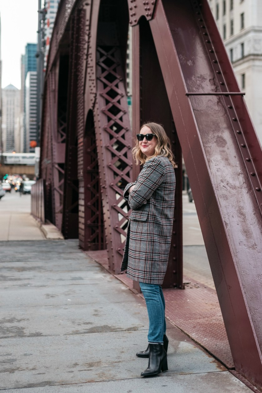 Plaid Coat in Winter I wit & whimsy