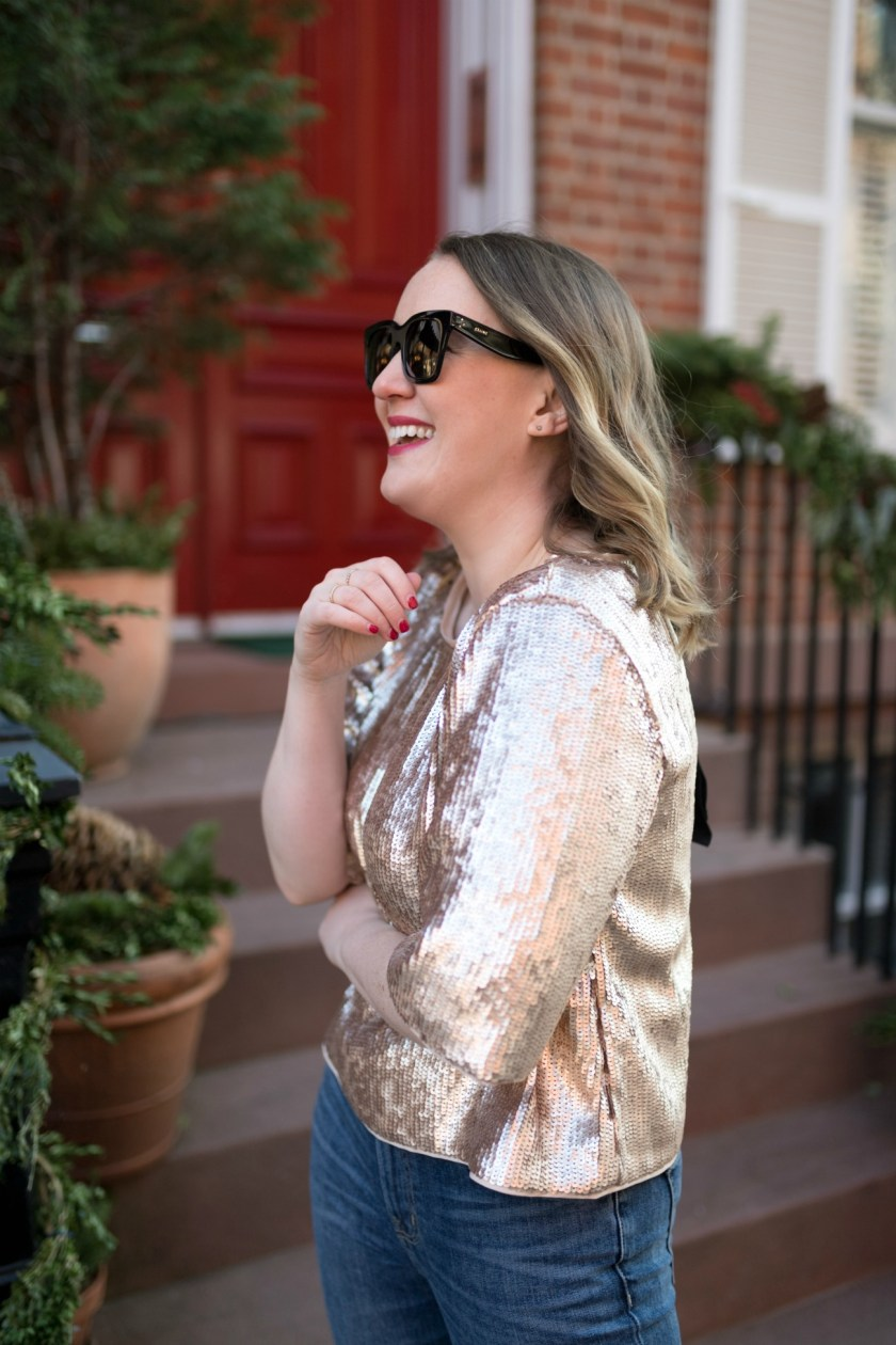 J.Crew Rosegold Sequin Top I wit & whimsy