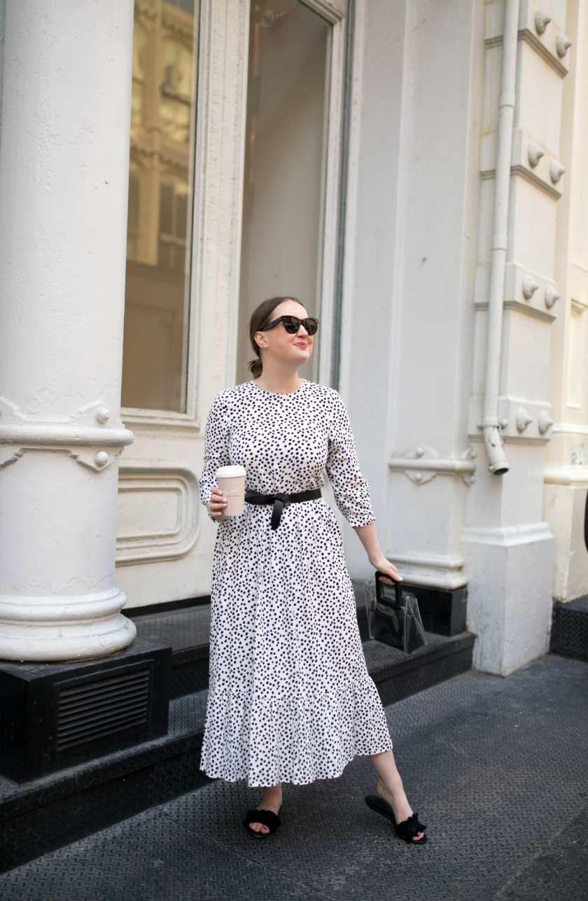 Polka Dot Dress Belted I wit & whimsy