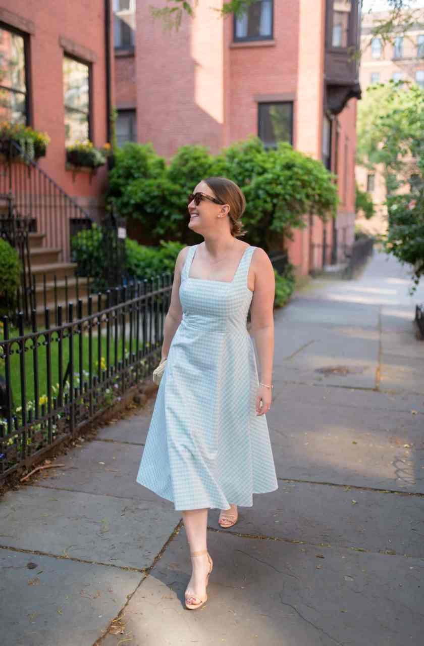 Gingham Summer Dress I wit & whimsy