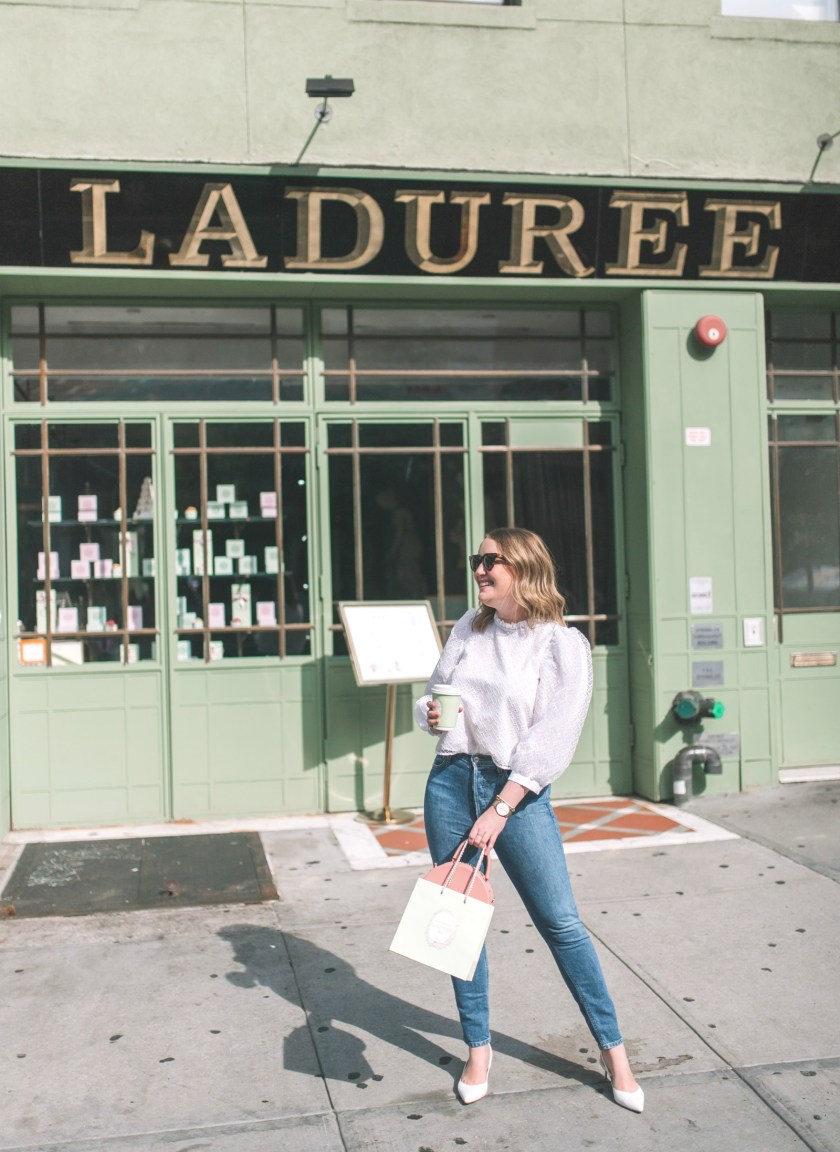 Meghan Donovan at NYC's Laduree I wit & whimsy