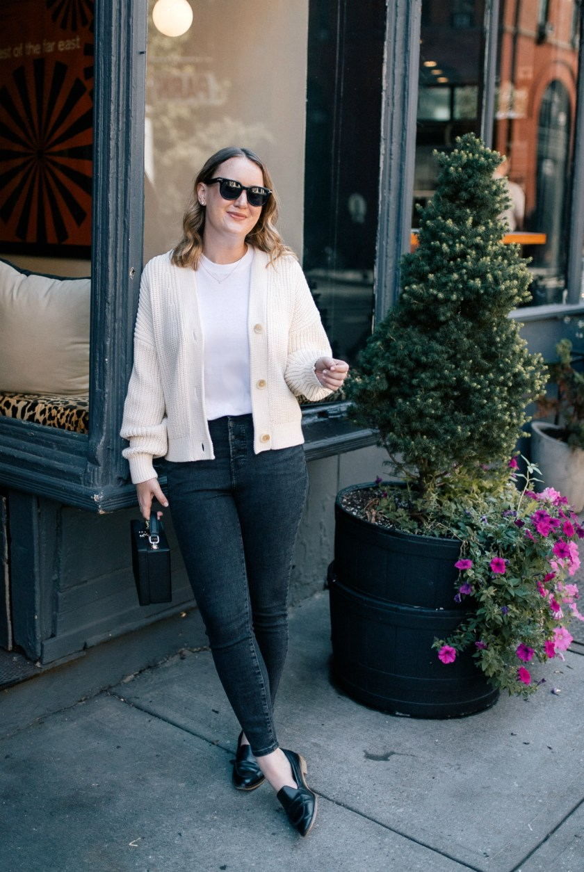 Everlane Texture Knit Cardigan 2 Ways I wit & whimsy