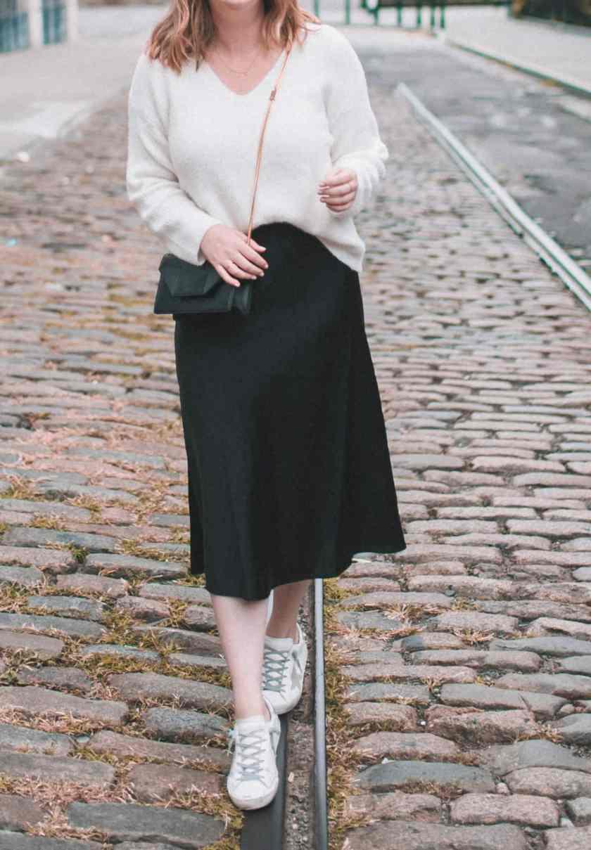 J.Crew Silk Midi Skirt I wit & whimsy