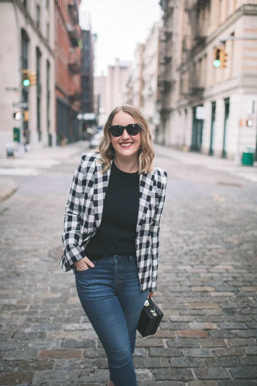 Plaid Blazer I wit & whimsy