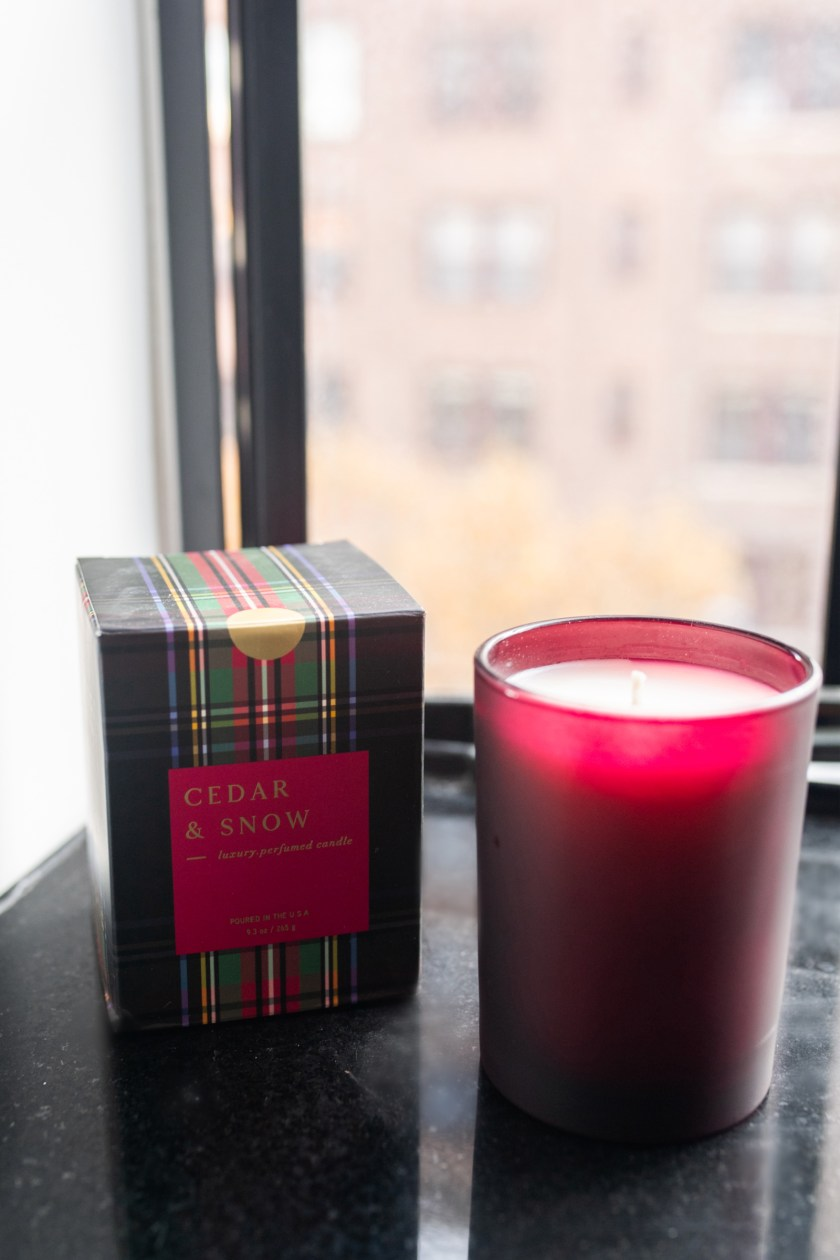 J.Crew Holiday Cedar and Snow Candle