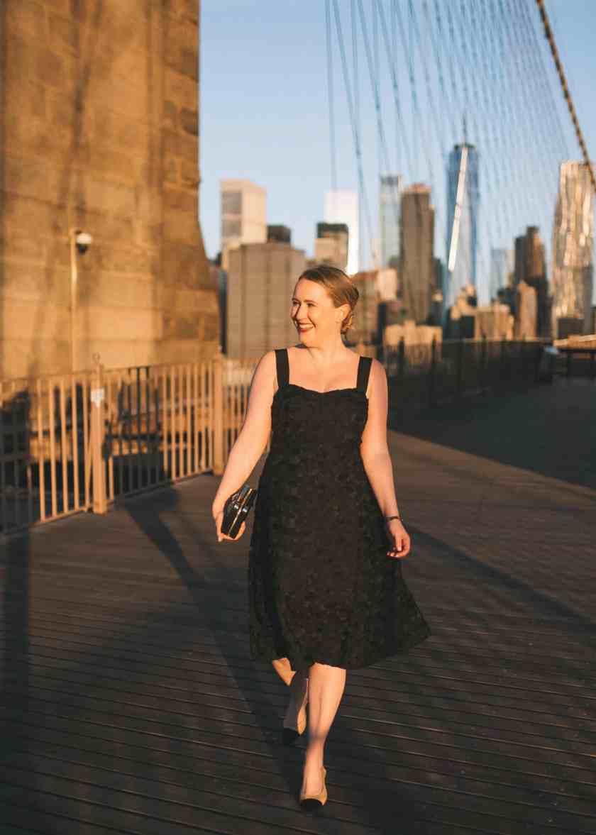 Little Black Lace Midi Dress I wit & whimsy