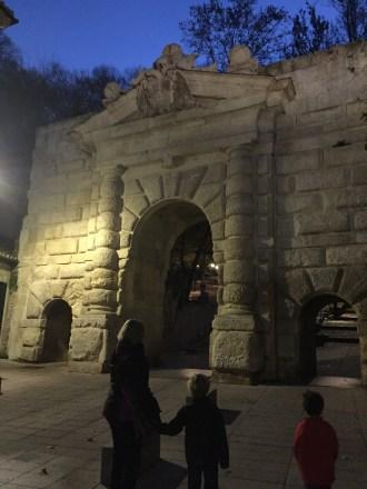 Gate at the top of Cuesta de Gomerez