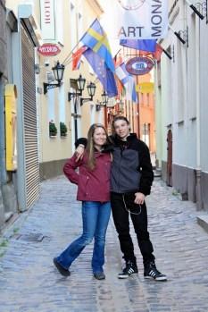 Rebekah and Nik near Wagner street.
