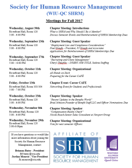 SHRM Fall Meetings