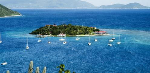 Marina Cay in den BVI, karibische Jungferninseln