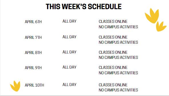 Schedule Apr 6