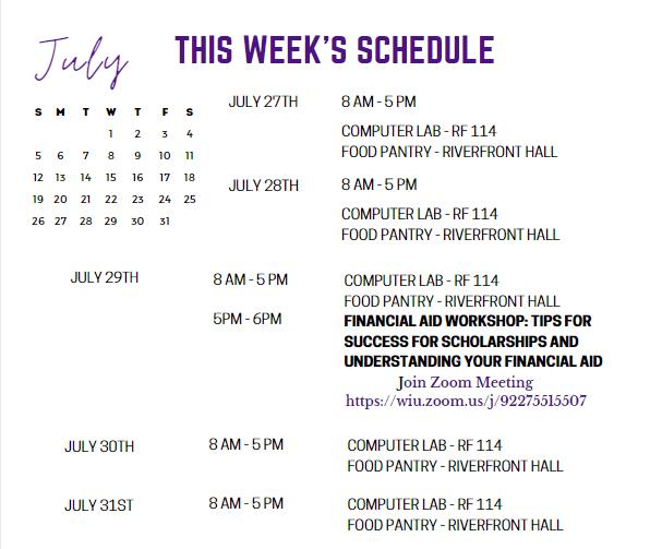 July 27-31