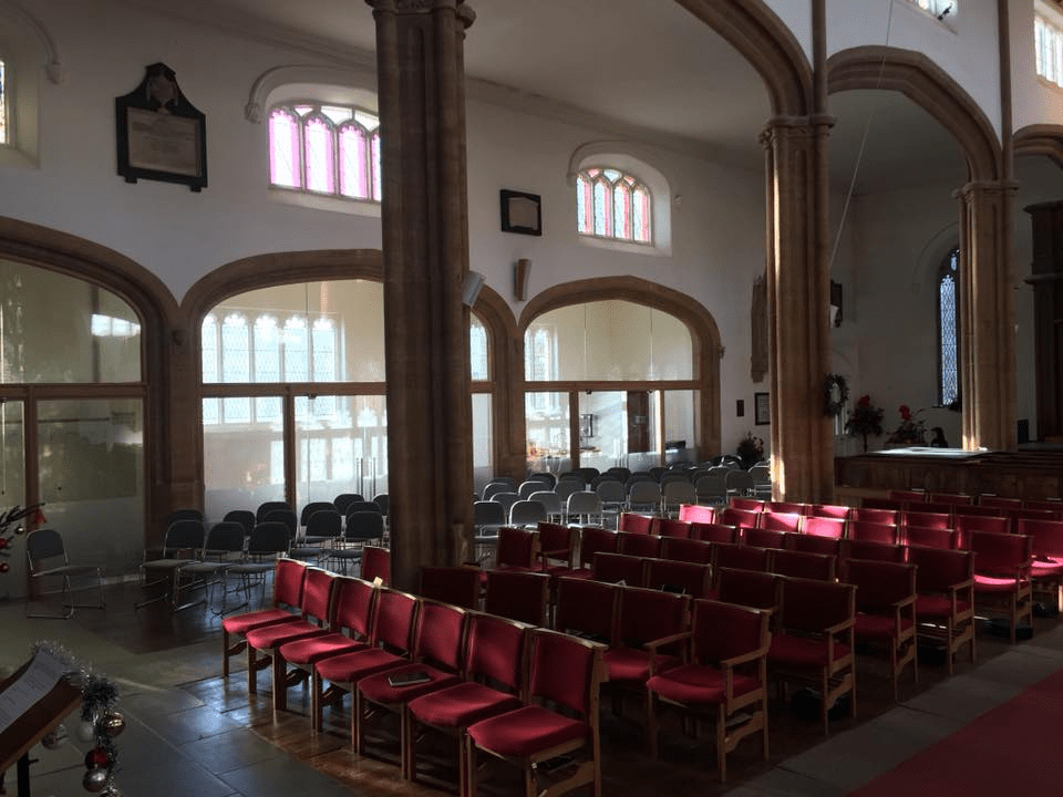 The new chairs and south bays set out for a service