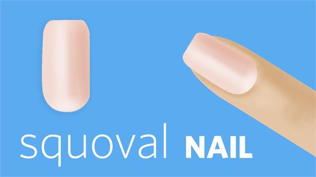 L nailshapes 4squoval