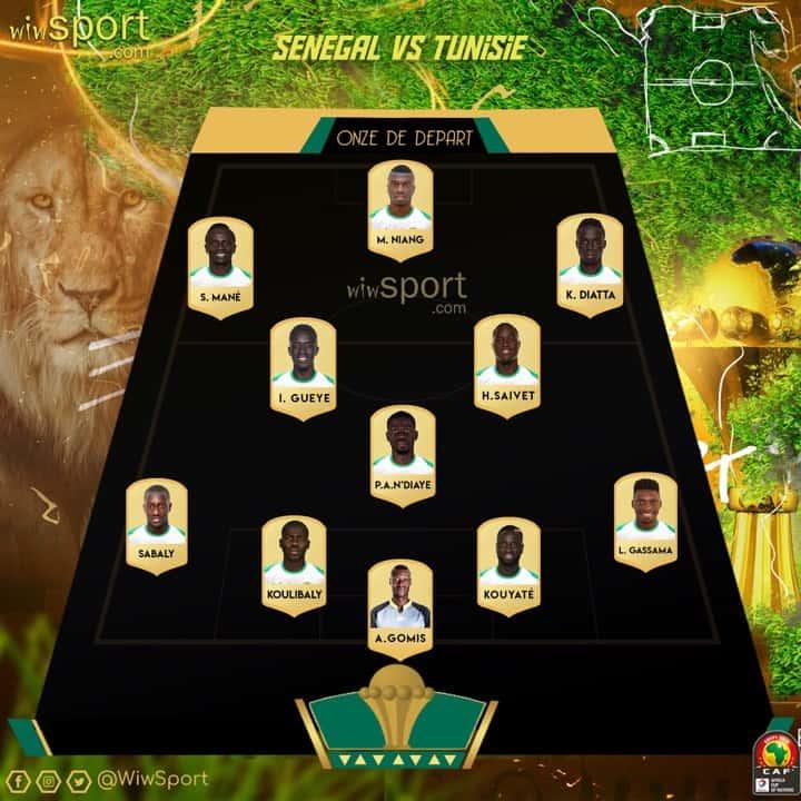 11-TUNISIE CAN 2019 : Voici le onze de départ officiel du Sénégal face à la Tunisie #SUNUCAN