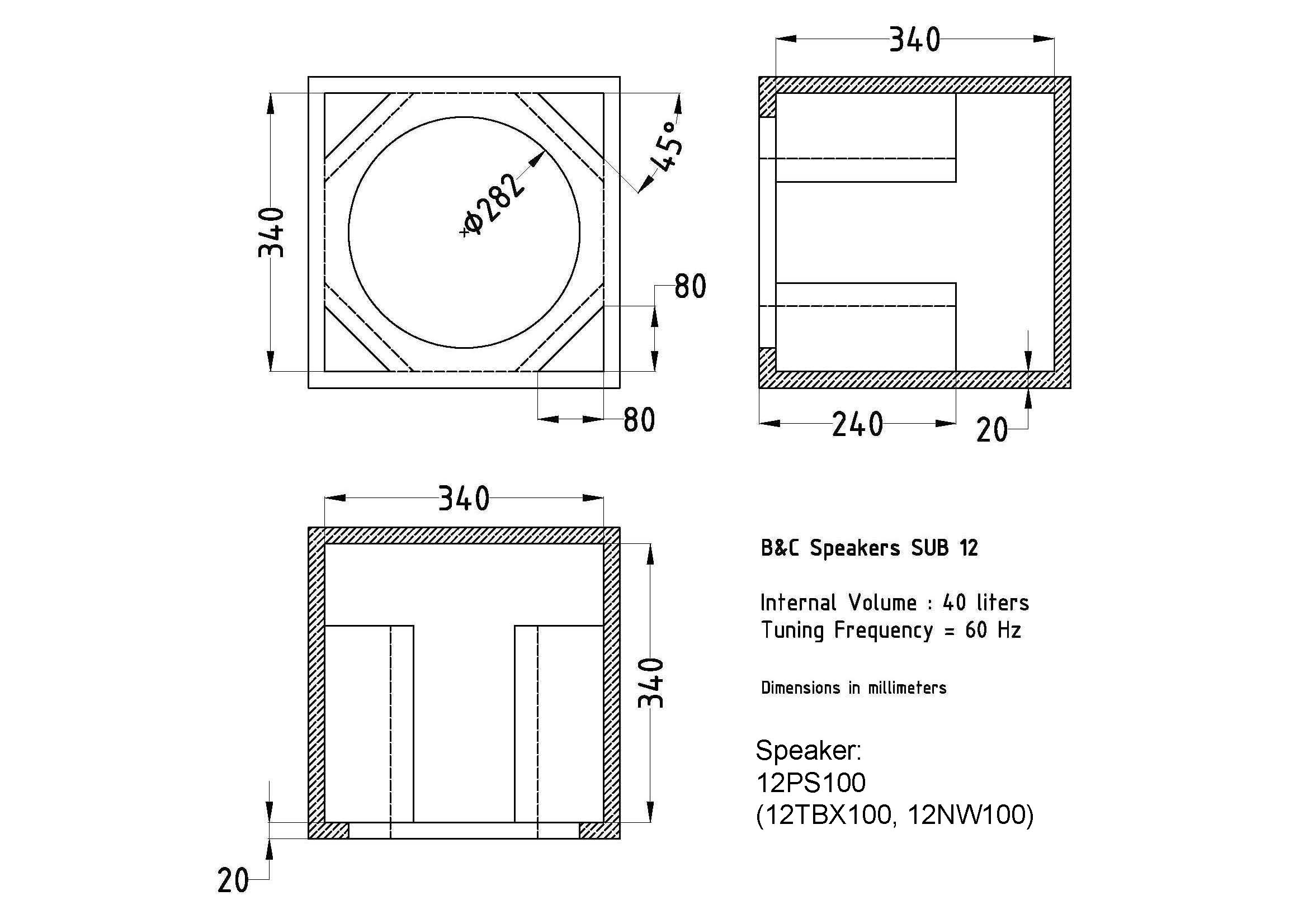 2 10 Inch Subwoofer Box Dimensions