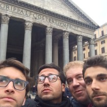 thinkers at the pantheon