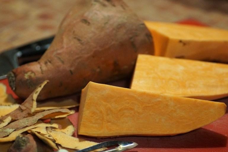 Sweet potatoes, a type of yams
