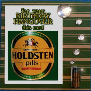 MisFitz Holsten Pils Birthday Hangover Greeting Card